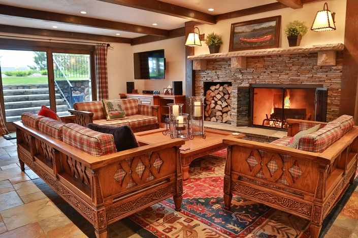 Fireplace Interior Design - Lakeside Living